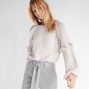 Express ruffle sweater sz L